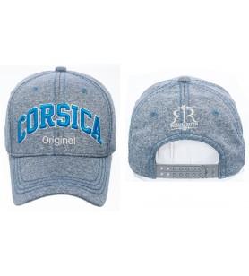 Korsika-Kappe Nr. 4 gefleckt blau
