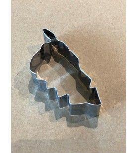 Cortador de piezas en forma de mapa de Córcega