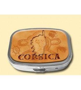 Boite à pilules carte Corse