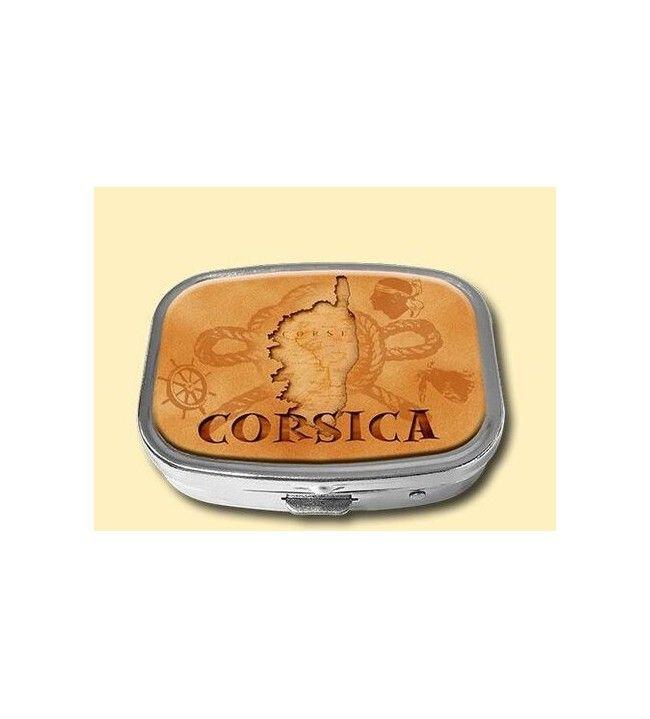 Boite à pilules carte Corse 502T