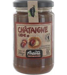 Crema di castagne 350g  - Crema di castagne 350g Marmellata corsa con zucchero di canna. 55% Frutta