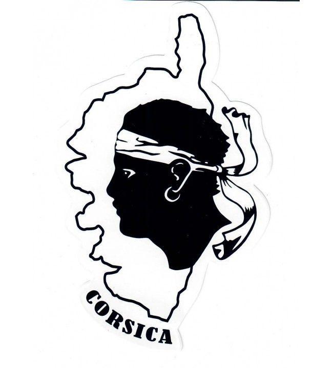 Adesivo Moorhead e carta Corsica 16 x 10 cm