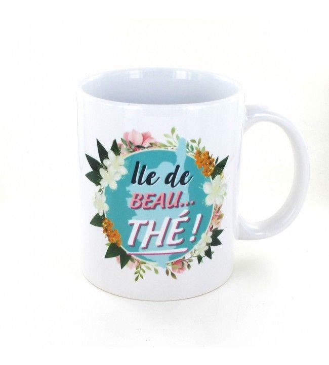 Mok eiland van mooie thee