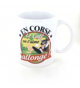 Mug In Corsica coffee we like it lying
