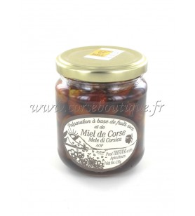 Bereiding van hazelnoten en amandelen met honing TRISTANI AOP 230 gr