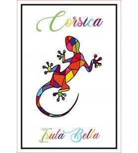 Torchon décor salamander Corsica  - Torchon décor salamander Corsica