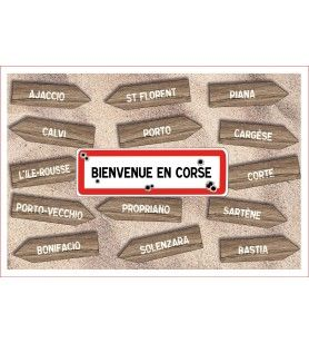 Welcome to Corsica tea towel 60 x 40 cm