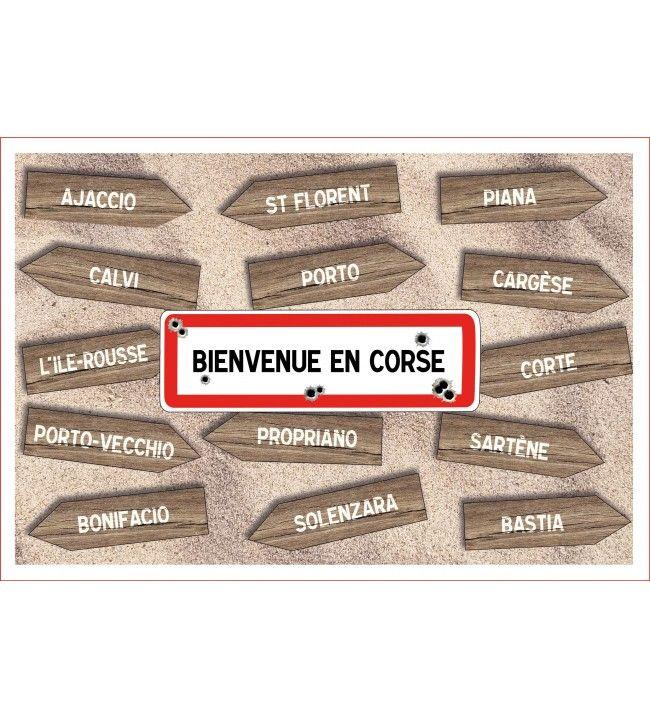 Welkom bij Corsica theedoek 60 x 40 cm