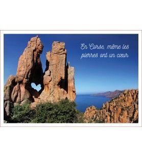 Torchon décor En Corse même les pierres