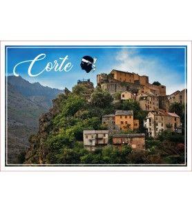 Torchon décor citadelle de CORTE  - Torchon décor citadelle de CORTE