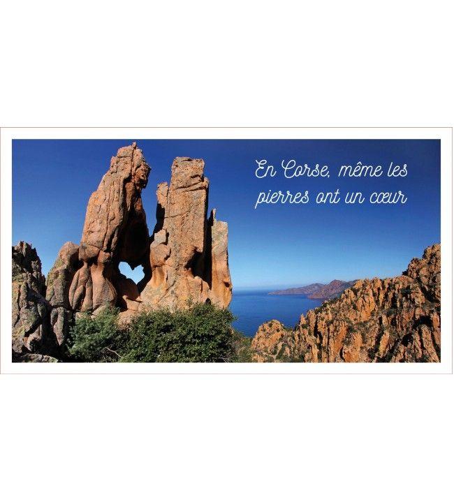 Lavette En Corse même les pierres 41 x 21 cm