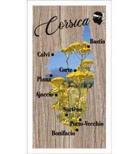 Lavette onsterfelijke Corsica kaart 41 x 21 cm