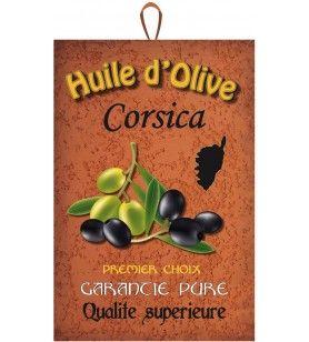 Torchon huile d olive Corsica 50 x 75 cm