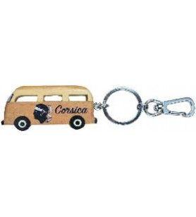 Porte clés van Corsica en bois avec mousqueton