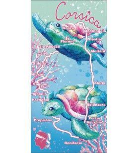 Marine turtle towel corsica