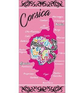 Asciugamano rosa decorazione tribale Moro testa