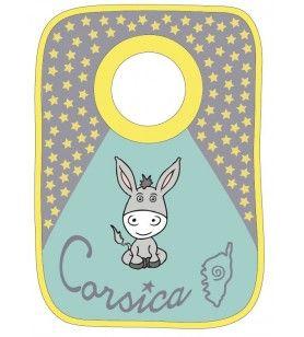Bavoir âne étoiles Corsica