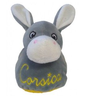 Corsica slippers for baby in the shape of a donkey decorated with stars