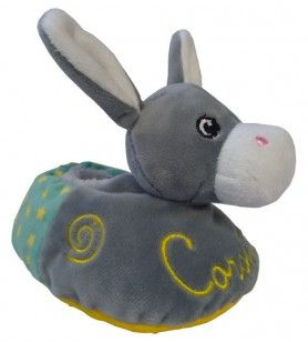 Chaussons Corsica pour bébé en forme d'âne décorés d'étoiles