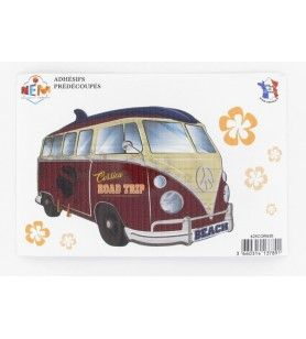 Adhesive combi road trip  - Adhesive combi road trip Made in France Dimensions: 15 x 10 Cm