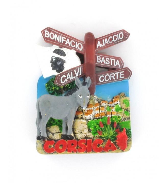 Magnet Pancarte âne village