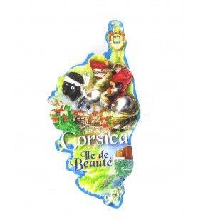 Isla de belleza impresa de resina de imán  - Isla de belleza impresa de resina de imán Dimensiones: 9 x 4,5 cm