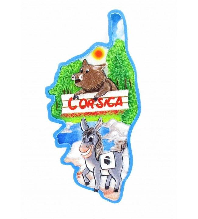 Donkey boar card printed magnet