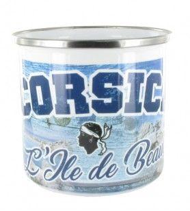 Metall Tasse blau Holz Schönheit Insel