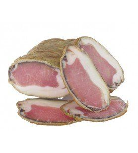 The Lonzu  - Product placed in a natural casing then steamed and smoked with beech wood. Piece of 700g approximately.