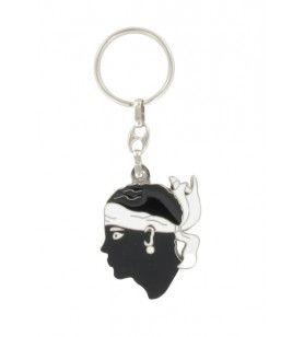 Porta chiave metallo tagliato testa di testa
