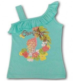 Het t-shirt van het tropische meisje