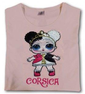 Camiseta brillante Lola chica