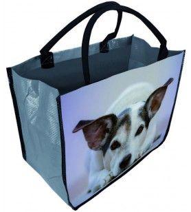 Sac cabas décor chien 40 cm  - Sac cabas décor chien 40 cm
