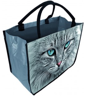 Sac cabas décor chat