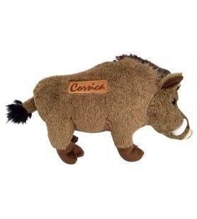 Cachorro de jabalí Headh de pie 20 cm bordado Córcega