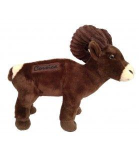 Peluche mouflon debout 24 cm brodé Corsica