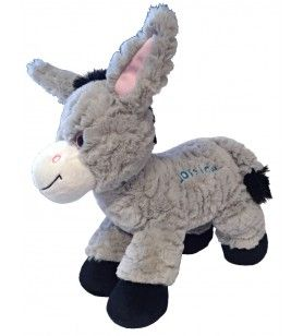 Soft-haired donkey cub 30 cm embroidered Corsica