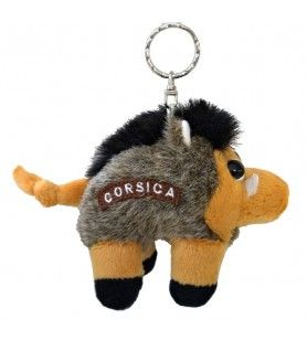 Porta chiavi di peluche del cinghiale della Corsica  - Porta chiavi di peluche del cinghiale della Corsica Dimensioni: 11 cm