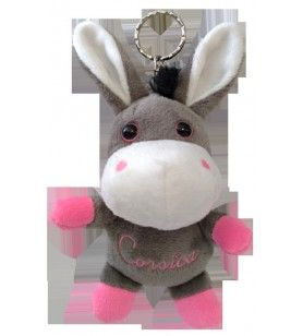Donkey plush key ring