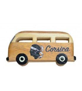 Magnet van Corsica en bois