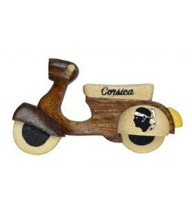 Magnet scooter en bois
