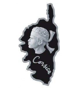 Corsica card metal magnet with relief head