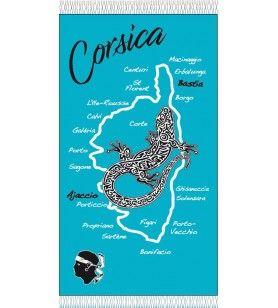 Fouta unie salamandre Corsica