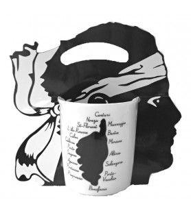Mug noir et blanc Corsica