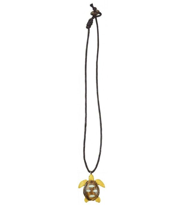Collier tortue en bois