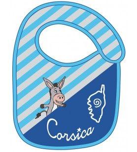 Corsica gestreepte ezels bib