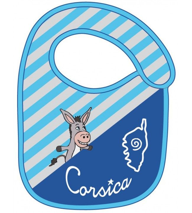 Striped donkey bib Corsica