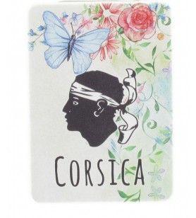 Miroir de poche papillon Corsica