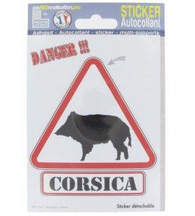 Wildschwein-Gefahrenaufkleber