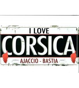 Love CORSICA metal plate
